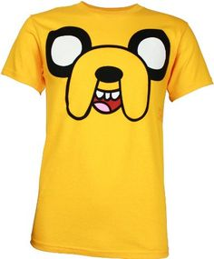 Adventure Time Jake Face Men's T-Shirt: Amazon.com: Clothing