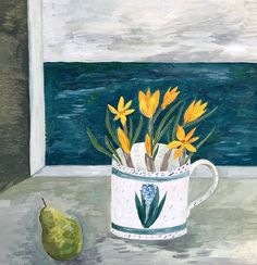 Pear and crocus by the sea | Debbie George