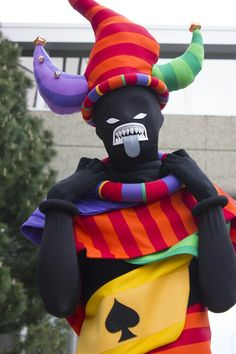 Homestuck cosplay - DOUBLE WAP. These guys are ridiculously colorful for evil minions of sorts.
