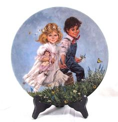 """Vintage 1986 RECO Plate Collection """"  JACK and JILL """" By  JOHN McCLELLAND 8.5"""" #Reco"""
