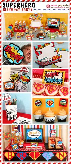 Superhero Birthday Party Package Personalized FULL by venspaperie Avengers Birthday, Superhero Birthday Party, 3rd Birthday Parties, Boy Birthday, Birthday Ideas, Birthday Games, Avenger Party, Party Printables, Party Time