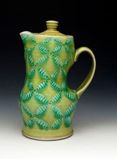 Lidded pitcher - Andrea Denniston Pottery