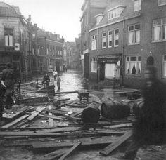 Dordrecht<br />Dordrecht: Watersnood op de Wijnstraat in 1953 (Henk Meenink)