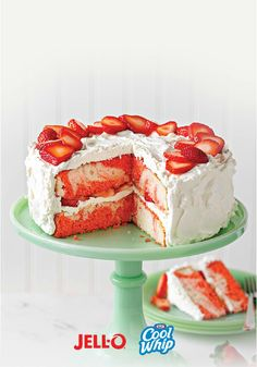 Strawberry shortcake's got nothing on our Strawberry Swirl Cake recipe. Especially how easy it is to make with JELL-O® and COOL WHIP. You've gotta try it, ASAP.