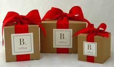 B. toffee is offering personalized labels - perfect for corporate holiday gifts. #OrangeCounty #Personalizedgifts
