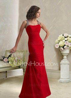 Abendkleider - $123.99 - Mode Meerjungfrau-Linie Neckholder Bodenlang Chiffon  Charmeuse Abendkleider mit Rüschen  mit Perlen verziert (017002264) http://jenjenhouse.com/de/pinterest-g2264