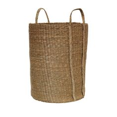Oki Seagrass Basket: The Scandanese inspired tall Oki Seagrass Basket, is the perfectly sized for storing throws and cushions, it also a ideal as a laundry basket. Our favourite use of the Oki basket has been a contemporary take on decorative plant pot. This multi functional basket is handcrafted by skilled artisans and fits harmoniously within our Japanese/ Scandinavian inspired homewares.