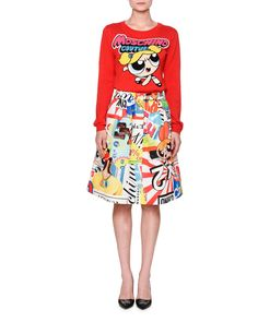 Moschino Powerpuff Girls Sweater & A-Line Skirt