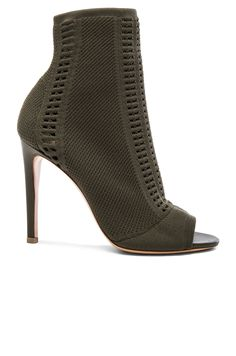Image 1 of Gianvito Rossi Knit Vires Booties in Army
