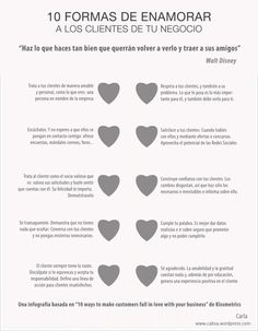 10 formas de enamorar a los clientes de tu negocio #infografia #infographic #marketing