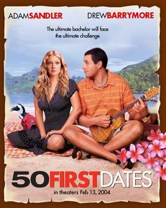 50 First Dates (Widescreen) on DVD from Sony Pictures Home Entertainment. Directed by Peter Segal. Staring Drew Barrymore, Adam Sandler, Rob Schneider and Sean Astin. More Comedy, Romance and Movies DVDs available @ DVD Empire. Drew Barrymore, See Movie, Movie Tv, Adam Sandler Movies, Bon Film, Film Le, Movies Worth Watching, Chick Flicks, First Dates