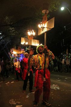 Orpheus Flambeaux New Orleans (Harry Connick, Jr. helped organize Krewe of Orpheus.)