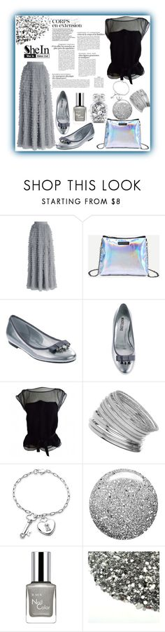 """Silver Bag With Chain Strap"" by jelena-topic5 ❤ liked on Polyvore featuring Chicwish, Louis Vuitton, Miss Selfridge, Bling Jewelry, Topshop, RMK and Victoria's Secret"