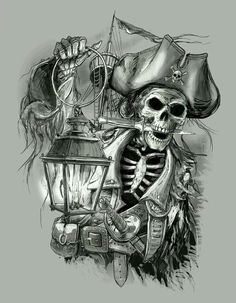 Perfect Pirate Skull Tattoo 12 In Design Tattoos With Pirate Skull Tattoo Pirate Art, Pirate Skull, Pirate Life, Pirate Signs, Pirate Skeleton, Skull Tattoos, Sleeve Tattoos, Cool Tattoos, Tatoos