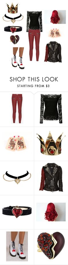 """Quinn daughter of the queen of hearts descendants 2"" by supergirl6699 ❤ liked on Polyvore featuring L'Agence, Balmain, Lalique, Dr. Martens, Alexis Bittar, Descendants and disneydescendants"