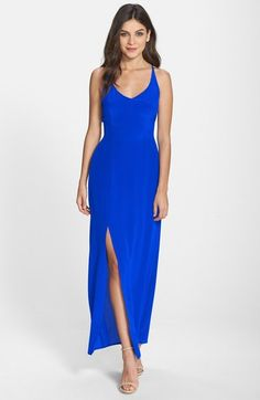 Charlie Jade Strappy Back Silk Maxi Dress available at #Nordstrom