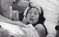這位媽媽花了九牛二虎之力才生下寶寶,結果「一往下看」就被不可能的畫面嚇瘋了!% 照片