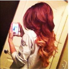 Red and blonde ombre; I hope my hair comes out as good as this!