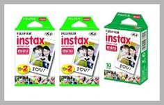 Fujifilm Instax Mini Instant Film, 5 Pack BUNDLE