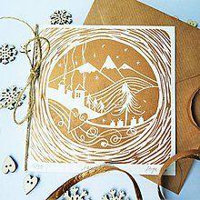 Papiernictvo - Vianočná pohľadnica * Vianočné hory - 7299705_