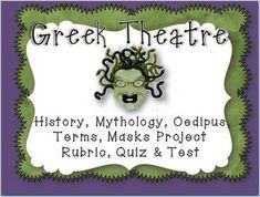 Greek Theatre: Quizzes, Test, Puzzles, Printables, Mask Project & Rubric - Danielle Knight - TeachersPayTeachers.com