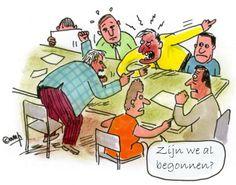 Guide ponsaerts verlaat woedend de vergadering omdat zijn idee waar hij maanden aan heeft gewerkt wordt afgewezen