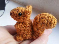 Mini Squirrel - cute amigurumi crochet plush stuffed miniature micro chipmunk forest woodland animals 7.66