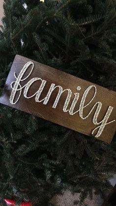 Family String Art sign by SeasonOfSeeking on Etsy https://www.etsy.com/listing/262711643/family-string-art-sign