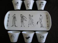 art decó Porcelain Ceramics, Ceramic Mugs, China Porcelain, Porcelain Tiles, Clay Design, Ceramic Design, China Painting, Ceramic Painting, Art Deco