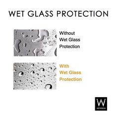 Wet Glass Protection makes cleaning a breeze. #wetdesign #home #bathroom