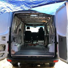 """A Pint Full of Awesome Brian, with Seat Time, installed the Small Coin Trailer Flooring in his Moto Van. As his slogan indicates, the flooring is """"A Pint Garage Floor Mats, Garage Flooring, Enclosed Trailers, Cool Garages, Floors And More, Cargo Trailers, Easy Install, It's Easy, Hot Cars"""