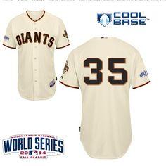 San Francisco Giants 35 Brandon Crawford Home Jersey 2014 World Series Patch