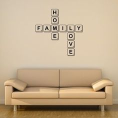 Family Letter Tile Wall Sticker - wall stickers