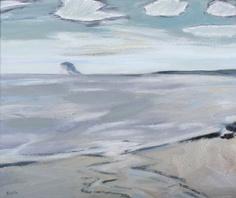 Morning, North Berwick, The Bass Rock  by John Houston (Scottish 1930-2008)