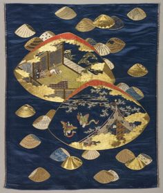 Embroidered Fukusa, Mid-19th century (Cleveland Museum states a later date)