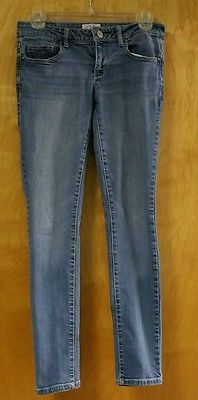 AEROPOSTALE Juniors Ashley Ultra Skinny Size 3/4  Short Court Blue Jeans