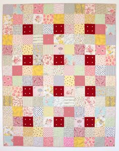 Square One Quilt Pattern, whole quilt photo. Pattern available at etsy.com/shop/karengriskaquilts.