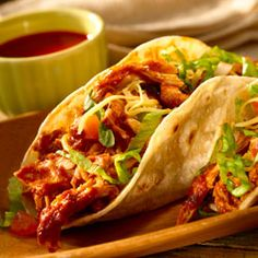 Love this recipe for shredded chicken tacos