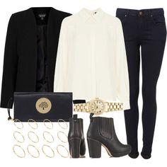 A fashion look from November 2014 featuring Topshop blouses, Topshop jackets and Topshop ankle booties. Browse and shop related looks.