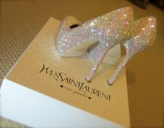 Yves Saint Laurent pump with stiletto heel strassed by AuroraBliss, $4395.00