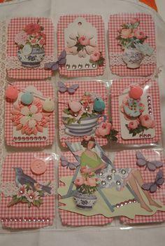 Scrapbook Paper Flowers, Scrapbook Paper Crafts, Scrapbook Supplies, Atc Cards, Journal Cards, Junk Journal, Pocket Pal, Pocket Cards, Recycled Paper Crafts