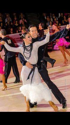 #dancesport | #latin | #ballroom| Long white Latin dress. Classy