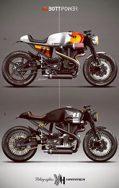 Racing Cafè: Cafè Racer Concepts - Buell Bottpower by Holographic Hammer Cafe Bike, Cafe Racer Bikes, Cafe Racer Motorcycle, Moto Bike, Motorcycle Design, Bike Design, Motorcycle Types, Cb 450 Cafe Racer, Cafe Racer Tank