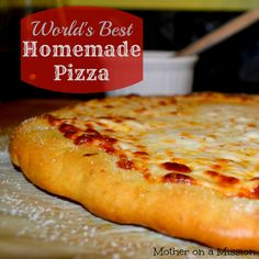 the only homemade pizza recipe you'll ever need...if you think that homemade pizza is too hard, or that it just can't taste as good as restaurant-style, you must make this. It will change your life.