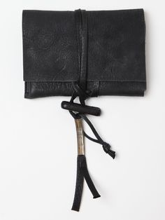 Boris Bidjan Saberi Leather Pouch Wallet. s/s 11