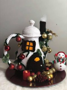 Excited to share this item from my shop: Amigurumi Teapot Fairy House, Mrs Claus Teapot House, crochet Teapot Fairy House Crochet Patterns Amigurumi, Crochet Toys, Double Crochet, Single Crochet, Crochet Fairy, African Flowers, Basic Crochet Stitches, Cute Toys, Fairy Houses