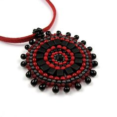 Beadwoven Pendant by The Crimson Moon