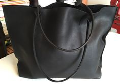 Hey, I found this really awesome Etsy listing at https://www.etsy.com/listing/250049543/sale-classic-large-black-leather-tote