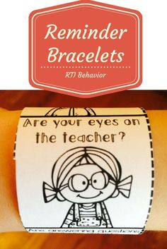 Want to know how I use reminder bracelets to transform classroom behavior for difficult RTI behavior students?  Take a look at this post.   Make sure to sign up for my newsletter while you are visiting keepingupwithmrsh...