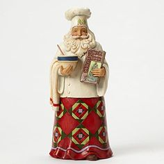 """Jim Shore for Enesco Heartwood Creek Santa Chef Figurine, 10"""" >>> Details can be found by clicking on the image."""